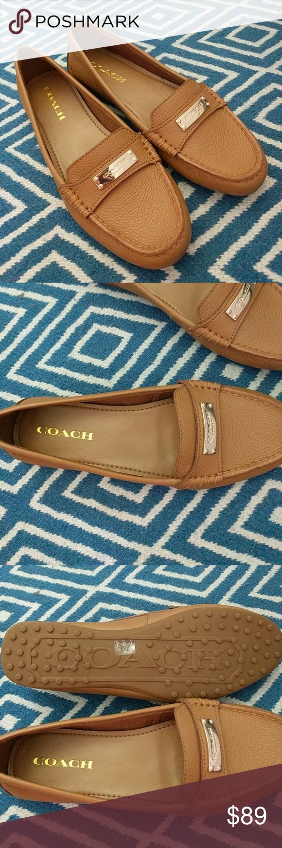 Coach Light Brown Loafers Brand New, no box.  Size 8 Coach Shoes Flats & Loafers