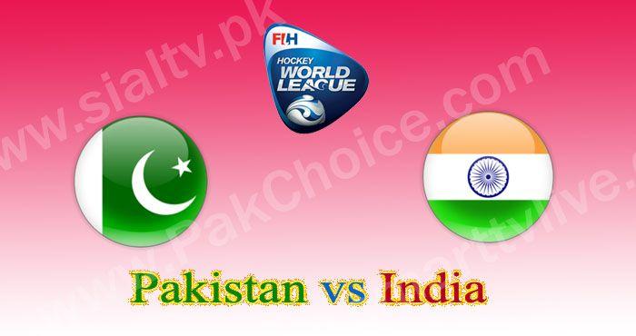 Pak vs India World Hockey League 2015 Match Live Streaming