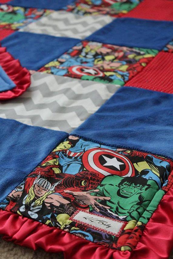 Marvel Avengers Blanket by KLBaby on Etsy
