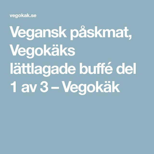 Vegansk påskmat, Vegokäks lättlagade buffé del 1 av 3 – Vegokäk