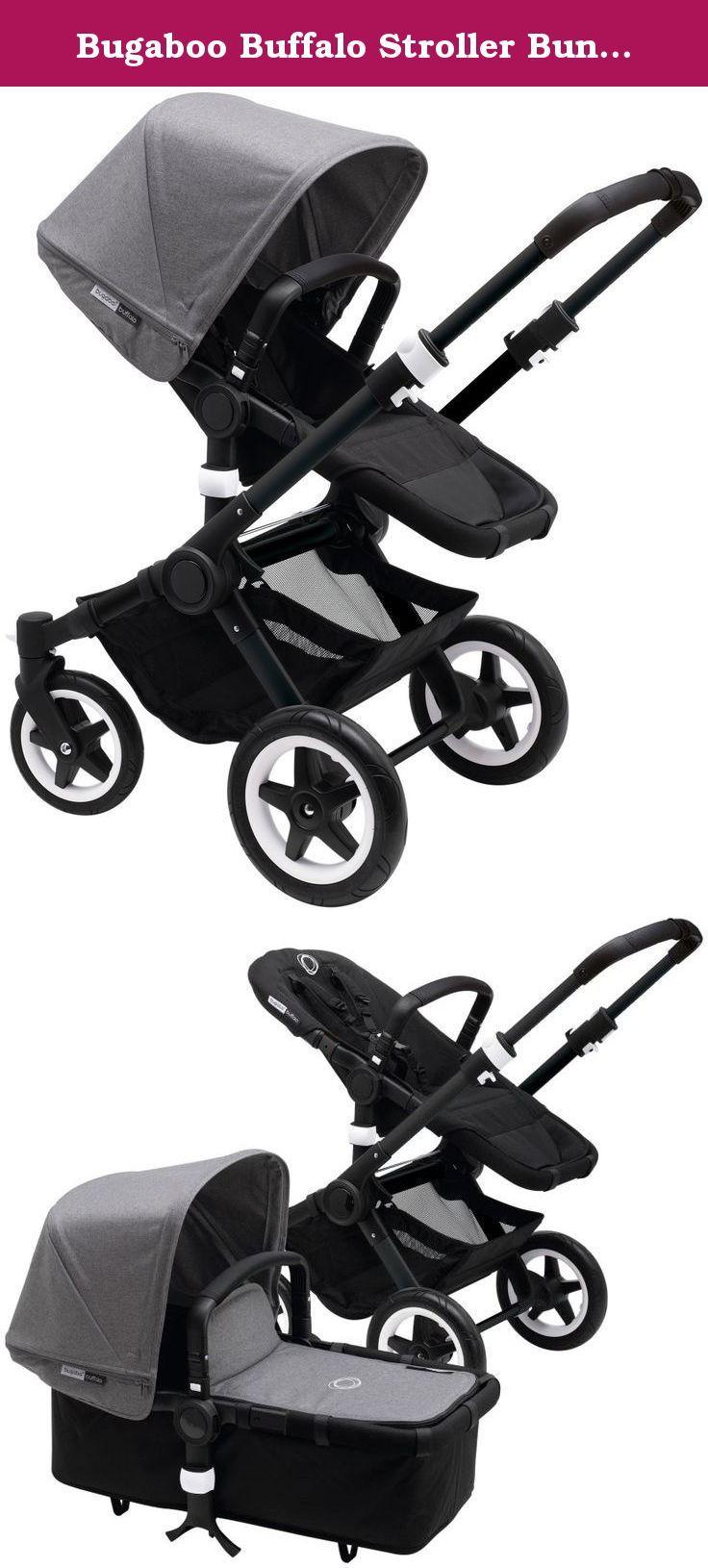 Bugaboo Buffalo Stroller Bundle Grey Melange Black