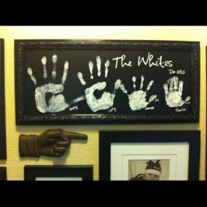 family name monogram - wall art