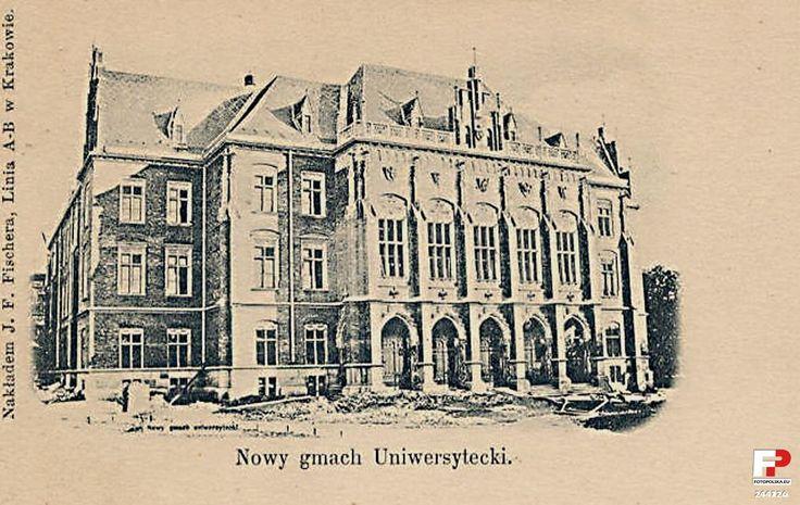 Collegium Novum, Kraków - 1885 rok,  wkrótce po wybudowaniu.
