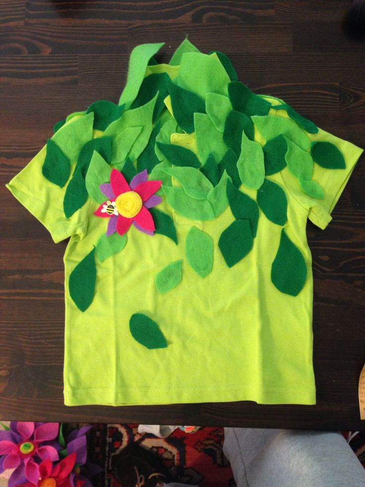 Flower shirt for Halloween costume
