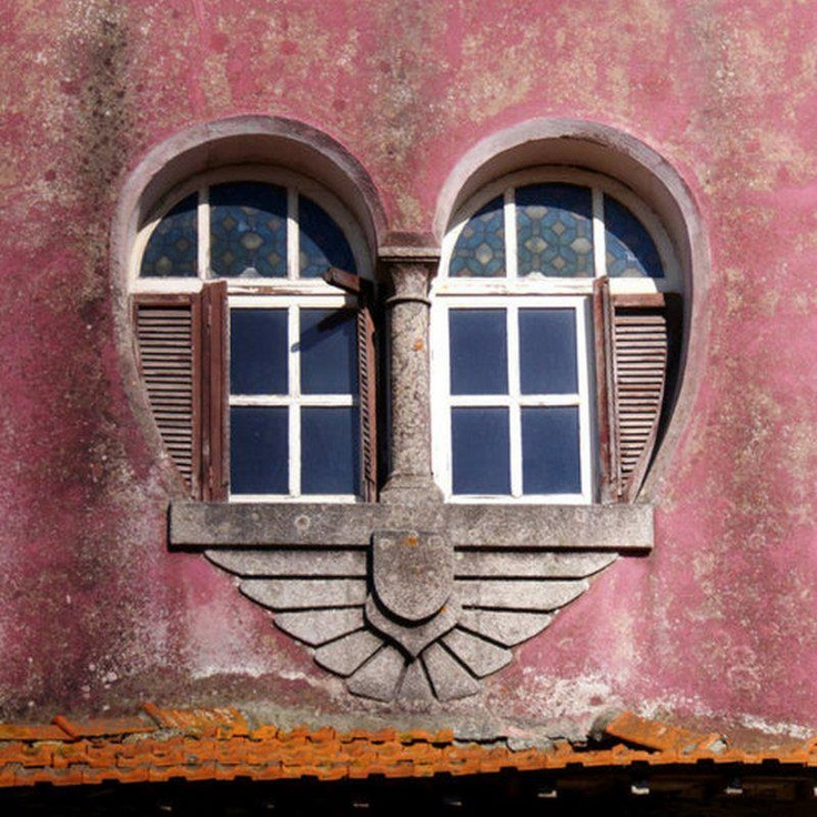 Do you think this heart shaped window would be as obvious if the wall was a…