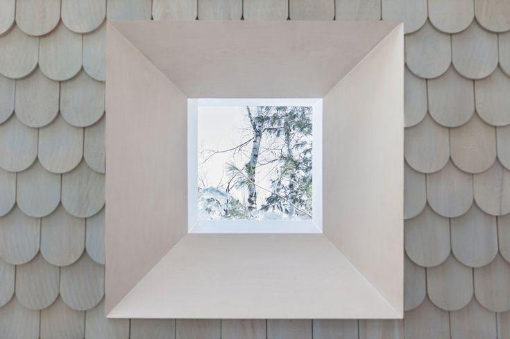 uufie reinterpret tree house in canadian lake cottage