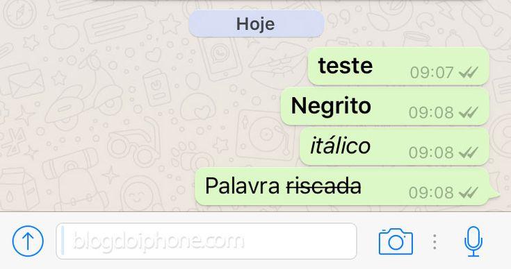 Graças auma recente atualização do aplicativo de mensagens WhatsApp, agora é possível escrever em negrito, itálico e riscado. Mas para isso, é preciso saber os ...