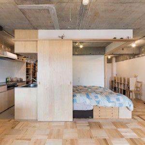 Yuichi Yoshida reorganises Tokyo apartment  to create temporary accommodation