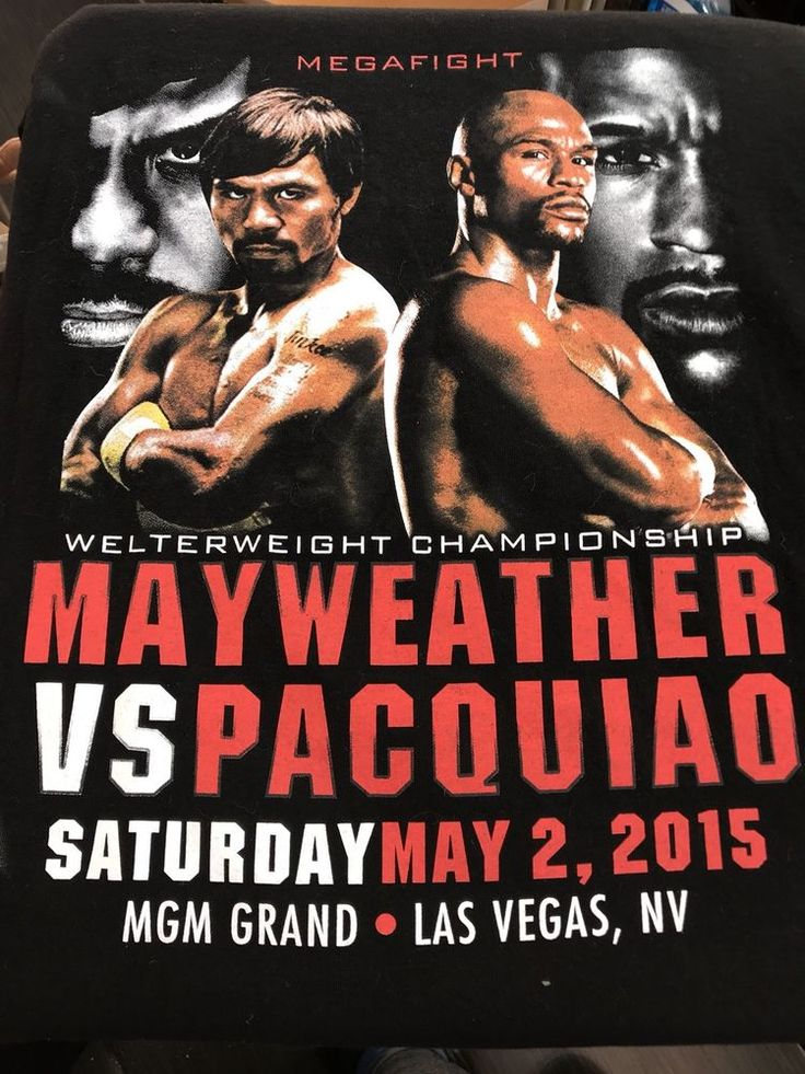 Floyd Mayweather vs Pacquiao 2015 T Shirt Vegas Championship Cotton Medium    eBay