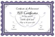 Award Certificate Maker - personalize and print certificates online for free: formal template 4 - 7 colors