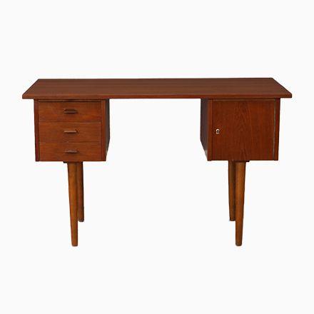 Elegant Kleiner Vintage Teak Schreibtisch Jetzt Bestellen Unter: Https://moebel .ladendirekt.