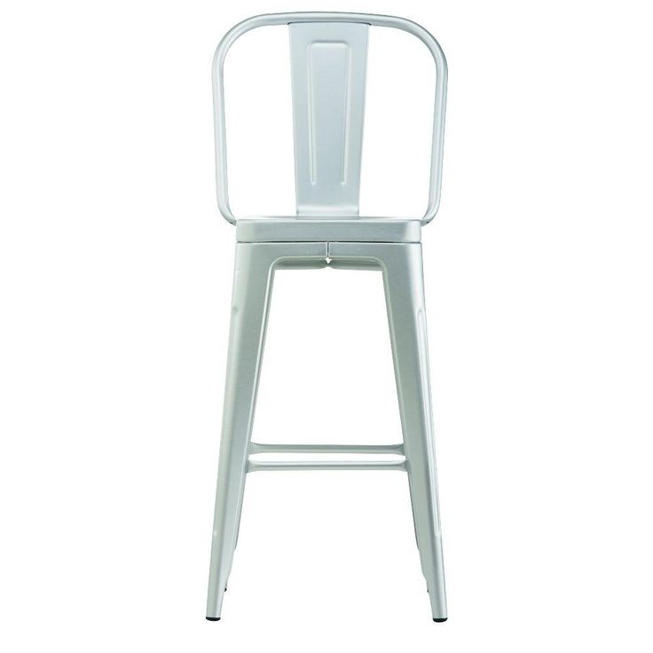 Home Decorators Collection Garden in Brushed Aluminum Bar Stool