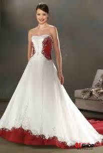 Red And White Corset Wedding Dress Dresses Trend