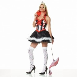 Sexy Queen Of Hearts Halloween Costumes For Ladies