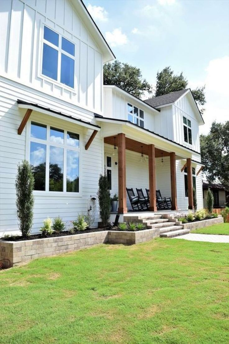 41 cheap and modern farmhouse exterior plans ideas white