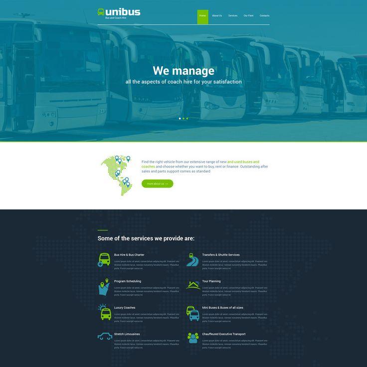 Transportation Bootstrap Website Template Small Screenshot 57