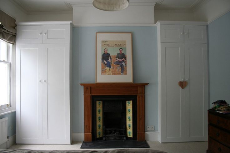 MDF wardrobes in alcoves