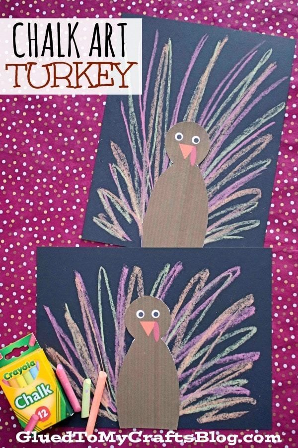 Papierkreide Art Turkey – Kid Craft   – fall theme