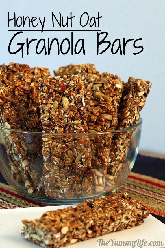 Honey Nut Oat Granola Bars.  from www.theyummylife.com/honey_nut_oat_granola_bars