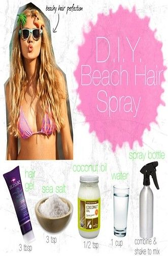 Beach hair spray for spring break and summer!