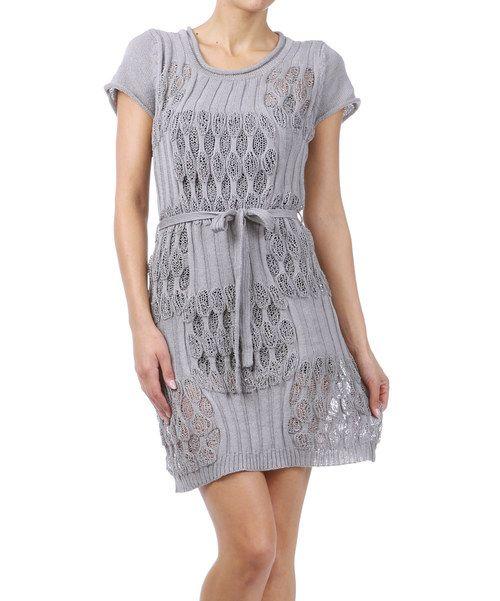 Take a look at this Gray Sheer Knit Circle Dress on zulily today!