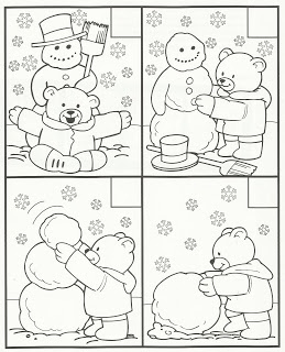 snowman/bear--put in order & color