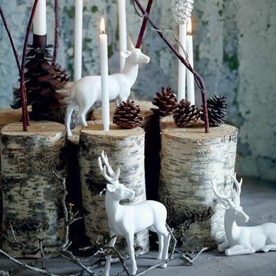 DIY animal ornaments / spray paint & plastic animals