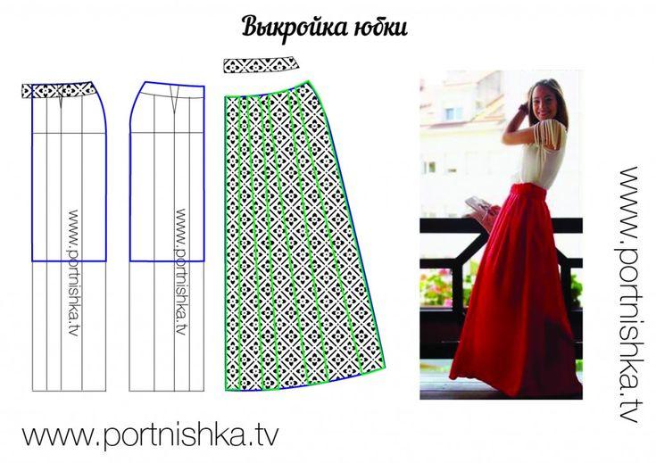 DIY Maxi Skirt - FREE Sewing Pattern Draft