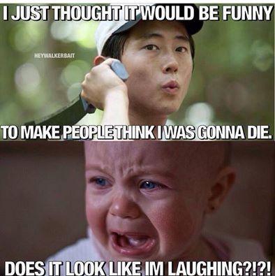 The Walking Dead // Not funny, Glenn!!