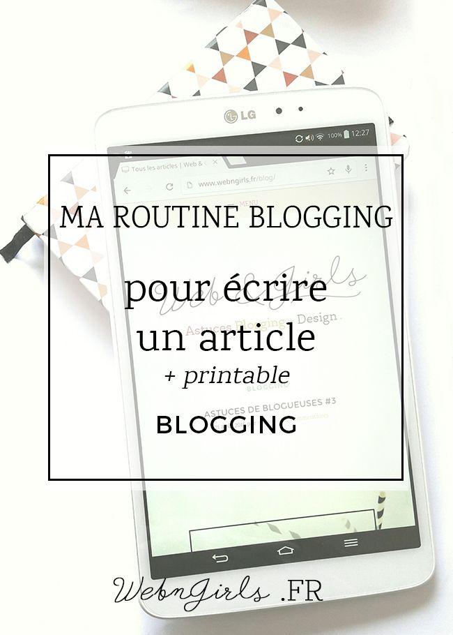 Petite routine et processus que j'applique pour bien écrire un article de blog, du brouillon à la rédaction, en passant par d'édition des photos.