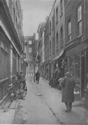St. Anne's Court, Soho. St John Adcock, Wonderful London (1926/7) vol 1. p.132