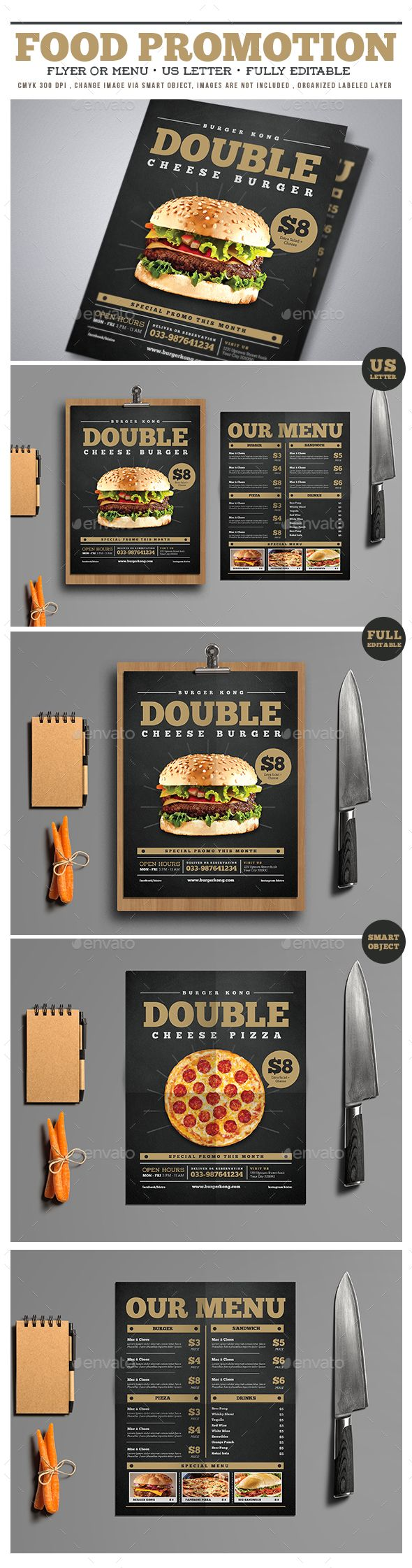 Food Promotion Flyer/Menu - Download…