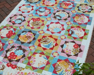 Strawberry Fields, design by sarah Fielke/Kathy Doughty (Material Obsession), completed by Hyacinth quilt designs.