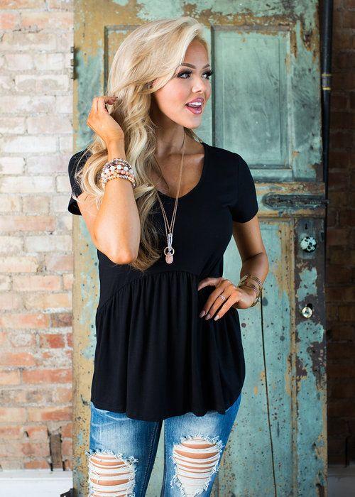 Boutique, Online Boutique, Women's Boutique, Modern Vintage Boutique, Top, Cap Sleeve Top, Black Top, Cute, Fashion