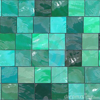 Blauwgroene tegels