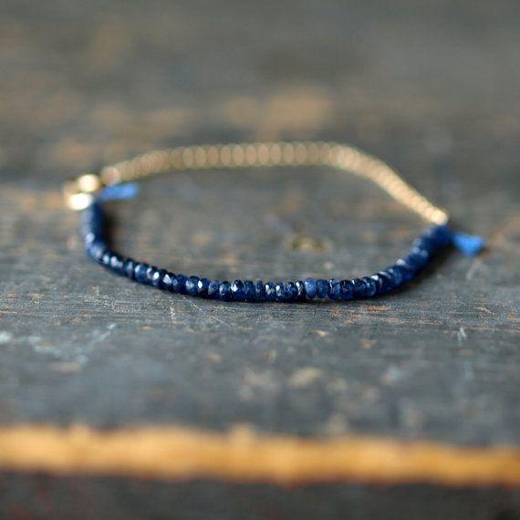 Blue Sapphire Gemstone Bracelet Precious Gem von ShopClementine
