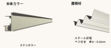 flange port  詳細:  本体カラーはステンカラー。どんな色味の建物ともマッチする色です。 ルーフ(屋根)材は0.5mm厚という頑丈なスチール製。