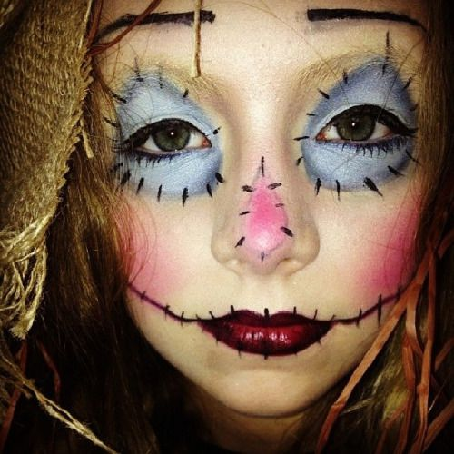 scarecrow halloween makeup - Google Search