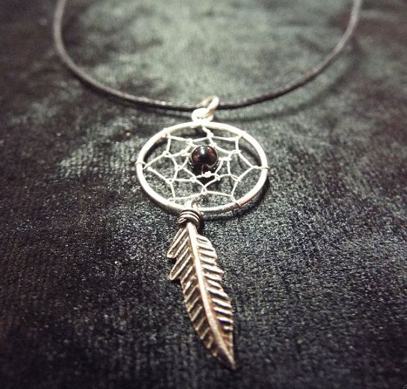 Beautiful handmade sterling 925 silver dreamcatcher with Black Onyx for focus and positive energy.