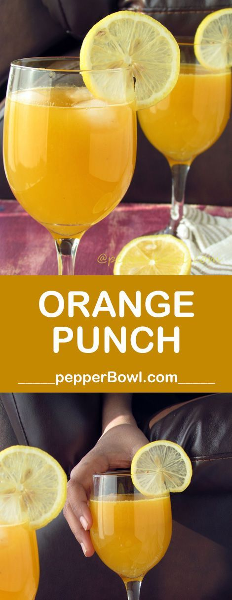 Orange Punch NonAlcoholic Recipe a super healthy drink in Non-alcoholic way.But with the same fun and spirit.  | http://pepperbowl.com via /pepperbowl/