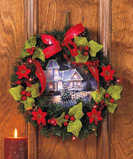 Lighted Scenic Wreath | ABC Distributing | Christmas | Pinterest