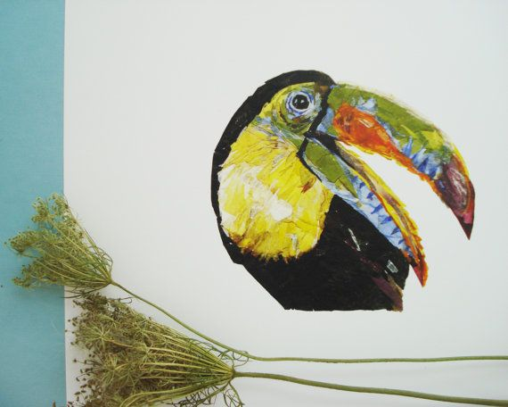 Check out this item in my Etsy shop https://www.etsy.com/listing/472962315/parrot-painting-print-pressed-flowers