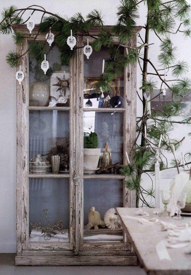 Weihnachten im Landhaus - genau mein Stil! abgenutzte Schränke/Möbel!