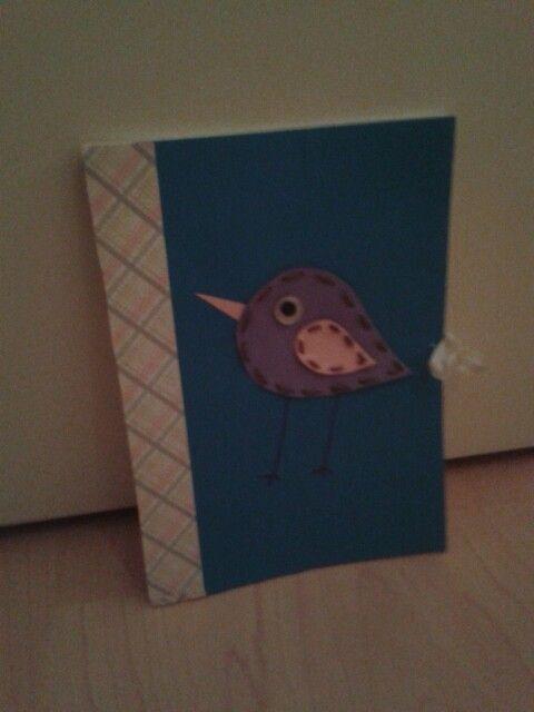 Itse tehty söpö päiväkirja.