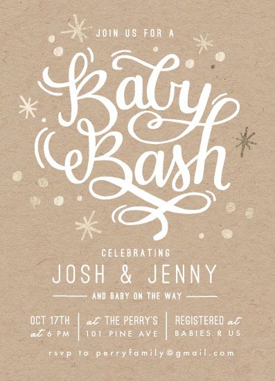 baby shower invitations - It's a Baby Bash by Makewells
