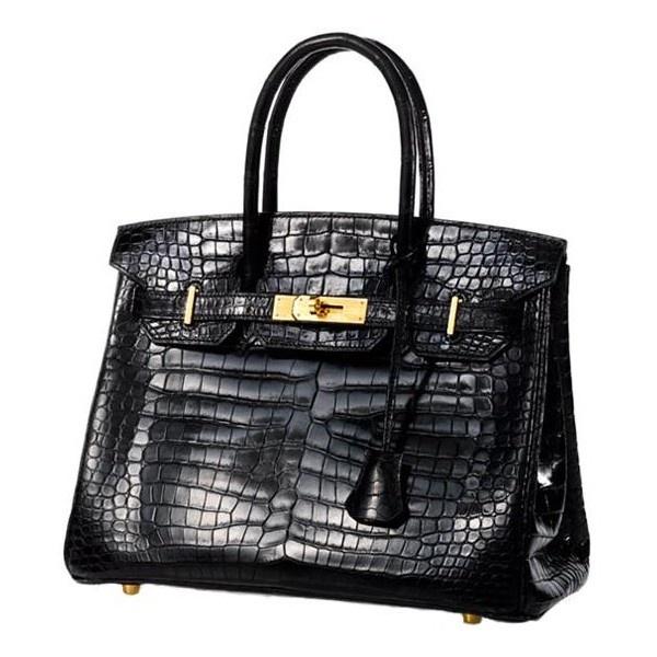 521e98a32106 Hermes Vintage Crocodile Birkin Handbag ❤ liked on Polyvore