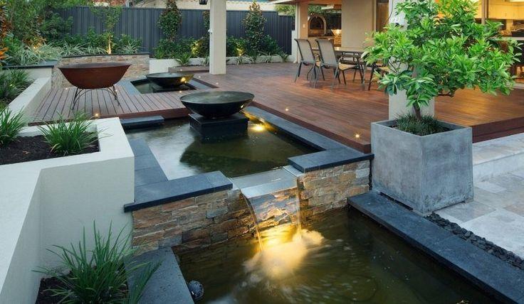 Bassin de jardin 25 id es pour rafra chir votre ext rieur for Idee pour terrasse exterieur