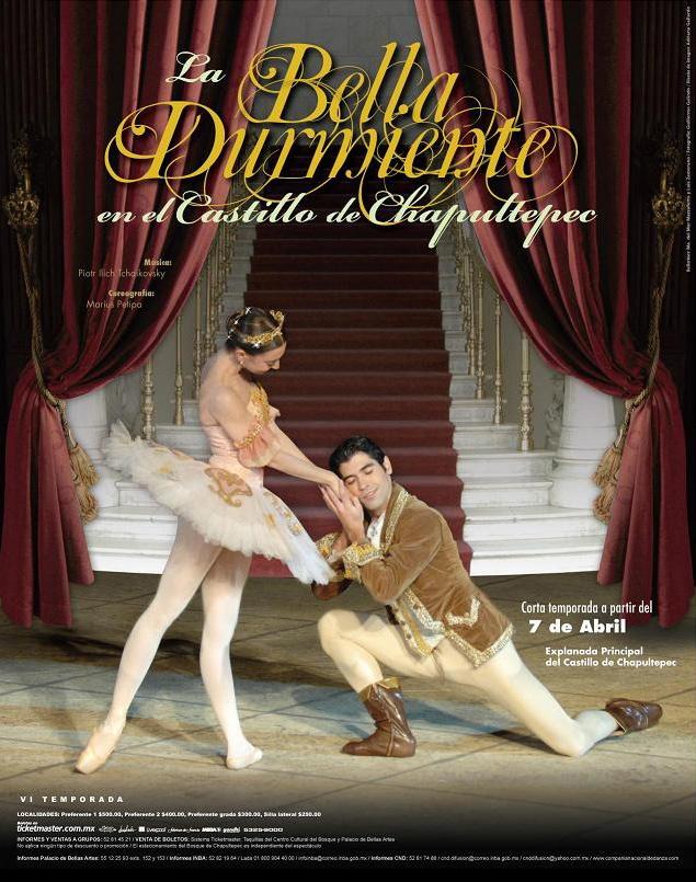 """Cartel """"Bella Durmiente en el Castillo de Chapultepec"""". Compa��a ..."""