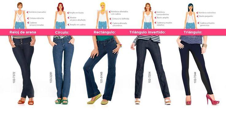 Descubre que tipo de jeans le va mejor a tu cuerpo y luce espectacular.