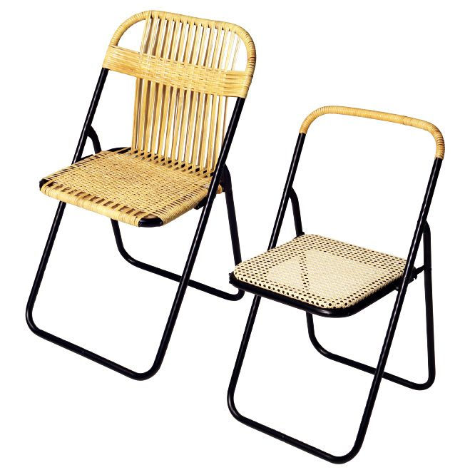 パイプ椅子を籐でアレンジ、〈イデー〉のアップサイクルプロジェクト。 | カーサ ブルータス Casa BRUTUS